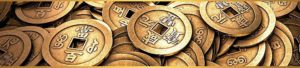 Symbol bohatstva: čínska minca