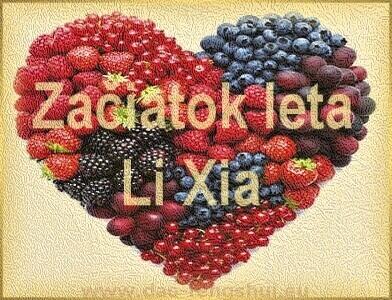 začiatok leta - li xia - ovocie