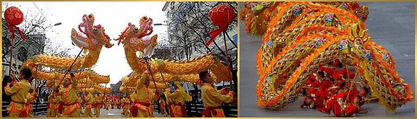 čínsky nový rok dračí tanec sprievod