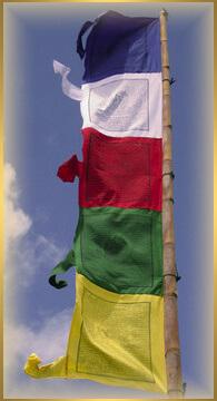 tibetská modlitebná vlajka - dar cho