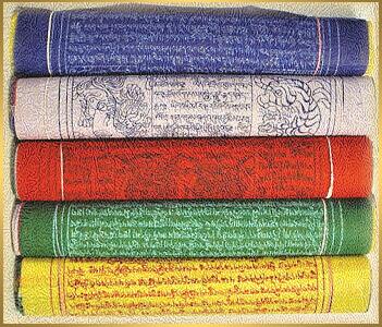 tibetské modlitebné vlajky-lungta-farby