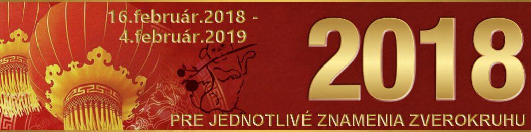 čínsky horoskop 2018